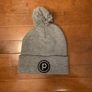Pure Barre beanie with pom